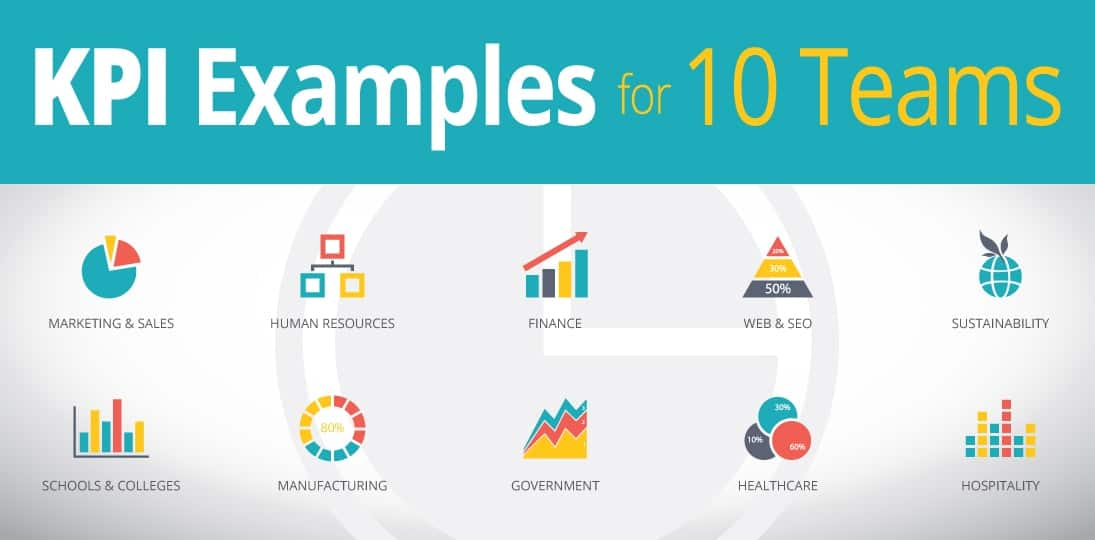 Get KPI Examples to inform and motivate 10 different teams
