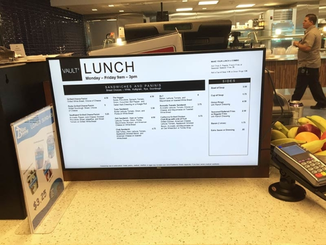Credit One Digital Menu Boards