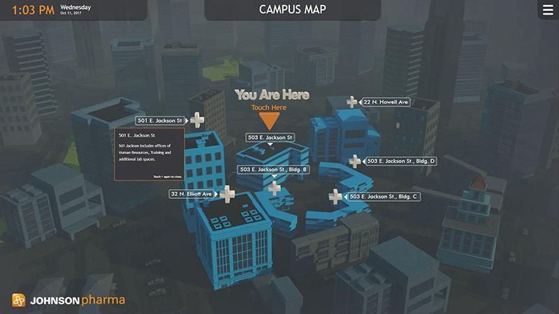 Johnson Pharmaceuticals Interactive Wayfinding