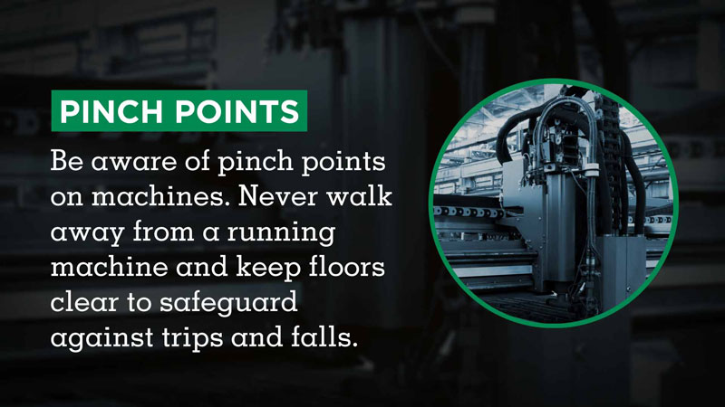 Visix Digital Signage Content Subscriptions | Safety Tips Feed | Pinch Points Safety Tips Message Sample