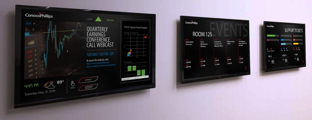Communicate executive management goals to employees with Visix digital signage