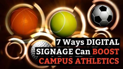 Digital signage is easy to update, so everyone on campus can be kept up to date with your teams' progress and news. Show some team spirit on your signs!