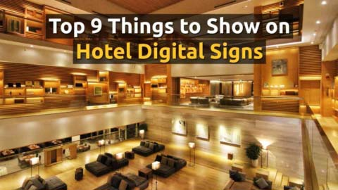 Discover multiple ways you can promote, advertise, inform and communicate important information to your guests using digital signage.