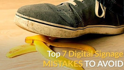 Digital signage is a great communications tool, but mistakes happen. Watch our video to avoid these common pitfalls and learn how to use digital signage to its fullest.