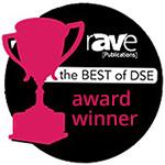 rAVe Publications Best of DSE (Digital Signage Expo) Awards winner logo