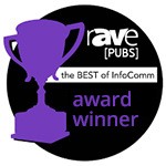 rAVe Publications Best of DSE InfoComm Awards winner logo